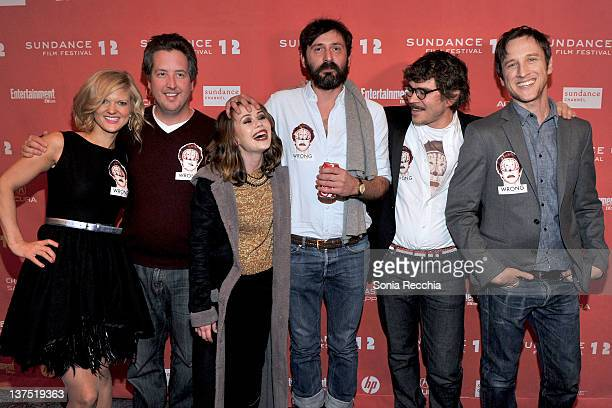 Arden Myrin Steve Little Alexis Dziena Quentin Dupieux Gregory Bernard and Jack Plotnick attend the 'Wrong' premiere during the 2012 Sundance Film...