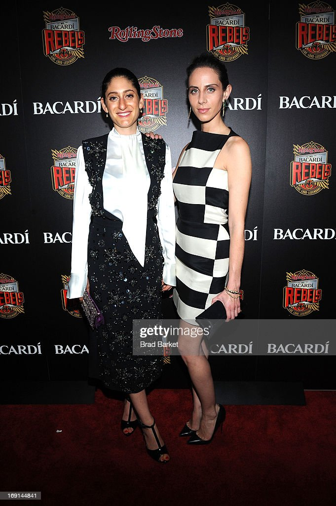 Arden Wohl and Dalia Oberlander attend Rolling Stone hosts Bacardi Rebels at Roseland Ballroom on May 20, 2013 in New York City.