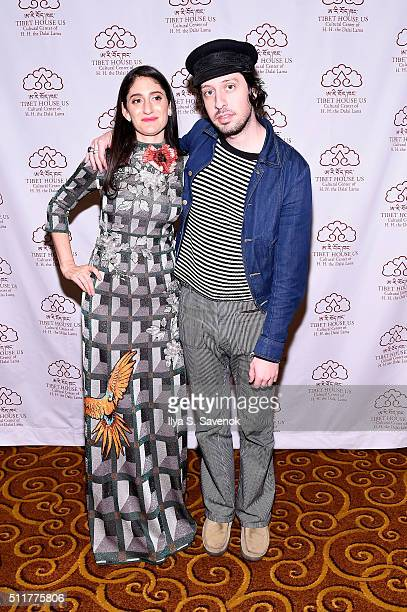 Arden Wohl and singer Adam Green attend the 26th Annual Tibet House U.S. Benefit concert after party at Gotham Hall on February 22, 2016 in New York...