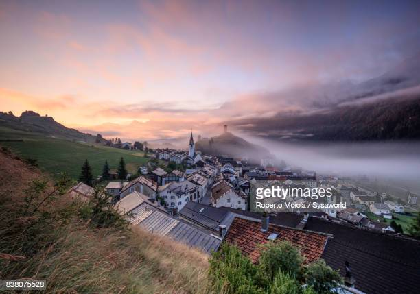 Ardez at sunrise, Switzerland
