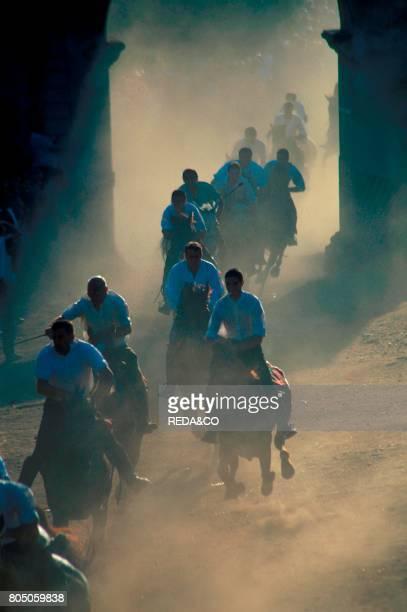 L'Ardia di Sant'Antine horse race Sedilo Sardinia Italy