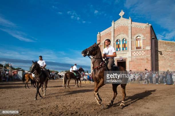 Ardia traditional horse race Sedilo Sardinia Italy Europe