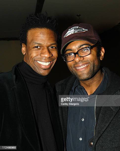 Ardie Fuqua and Derek Corley during DJ Cassidy Spins at 'Bunny Chow' Tuesdays at Cain March 15 2005 at Cain in New York City New York United States