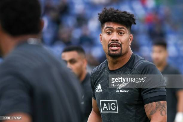 Ardie Savea during the Test Match 2018 between Italy and New Zealand at Stadio Olimpico on November 24 2018 in Rome Italy