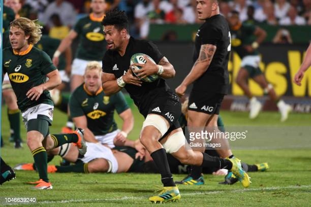 Ardie Savea of New Zealand during the Rugby Championship match between South Africa and New Zealand at Loftus Versfeld on October 06 2018 in Pretoria...