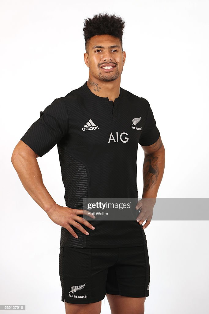 Ardie Savea of the All Blacks poses for a portrait during a New Zealand All Black portrait session on May 29, 2016 in Auckland, New Zealand.
