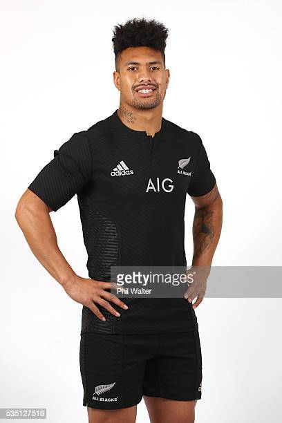 Ardie Savea of the All Blacks poses for a portrait during a New Zealand All Black portrait session on May 29 2016 in Auckland New Zealand