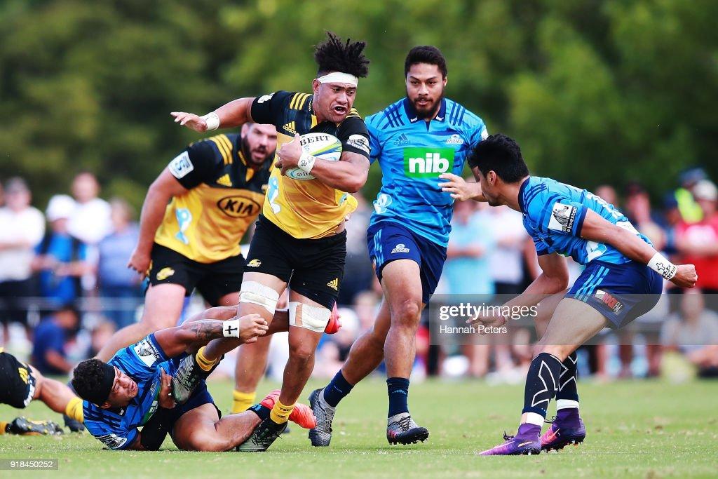 Super Rugby Pre-Season: Blues v Hurricanes : News Photo