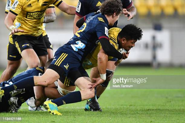 Ardie Savea of the Hurricanes during the round 4 Super Rugby match between the Wellington Hurricanes and Otago Highlanders at Westpac Stadium on...
