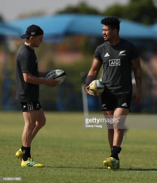 Ardie Savea of the New Zealand during the Rugby Championship New Zealand All Blacks captain's run at St Davids Marist Inanda 36 Rivonia Rd Sandown...