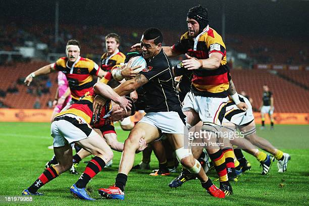 Ardie Savea of Wellington charges forward during the round seven ITM Cup match between Waikato and Wellington at Waikato Stadium on September 27 2013...