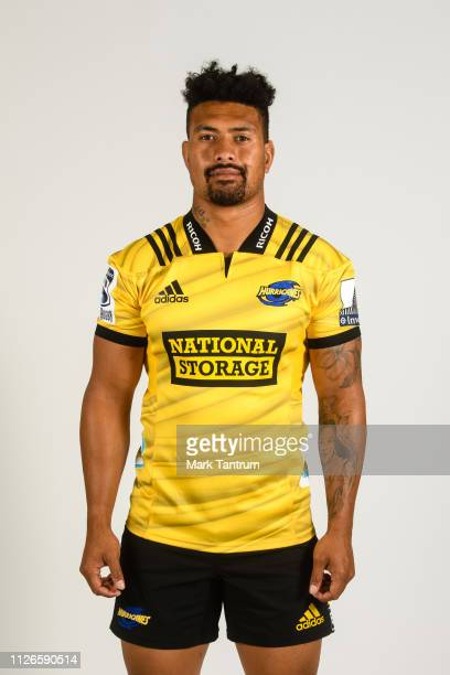 Ardie Savea poses during a Hurricanes Super Rugby headshots session on February 01 2019 in Wellington New Zealand