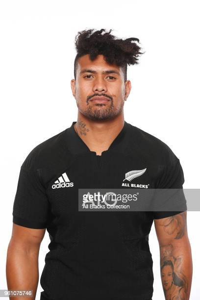 Ardie Savea poses during a New Zealand All Blacks headshots session on May 21 2018 in Auckland New Zealand