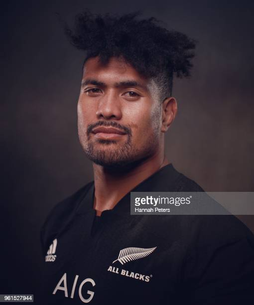 Ardie Savea poses during a New Zealand All Blacks portraits session on May 21 2018 in Auckland New Zealand