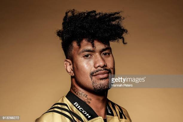 Ardie Savea poses during the Wellington Hurricanes 2018 Super Rugby headshots session on January 22 2017 in Auckland New Zealand