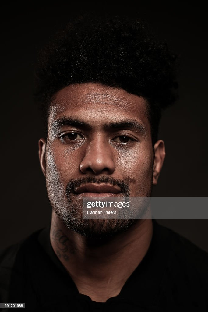 Ardie Savea poses for a portrait during the New Zealand All Blacks Headshots Session on June 11, 2017 in Auckland, New Zealand.