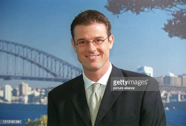 Moderator Michael Antwerpes gehört zu dem Olympia-Moderatorenteam, das bei einer Pressekonferenz am 28.7.2000 in Hamburg vorgestellt wurde . Für ARD...