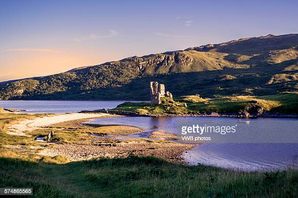 Ardvreck Castle at Sunset