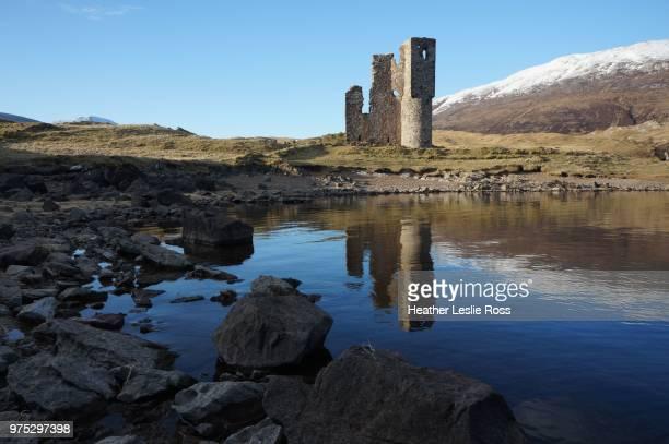 Ardvreck Castle reflection, Loch Assynt, Scottish Highlands