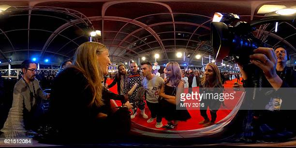 DNCE are interviewed on the MTV EMA's red carpet at the MTV Europe Music Awards 2016 on November 6 2016 in Rotterdam Netherlands