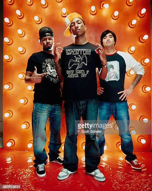 Sheldon Shay Haley Pharrell Williams and Chad Hugo are photographed for Request Magazine in 2002 COVER IMAGE