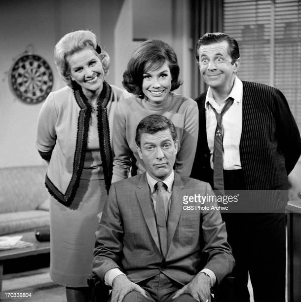 'THE DICK VAN DYKE SHOW' are Rose Marie Mary Tyler Moore Morey Amsterdam Dick Van Dyke Image dated 1961