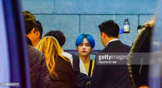 BTS are seen arriving at z100 on April 12 2019 in New York City