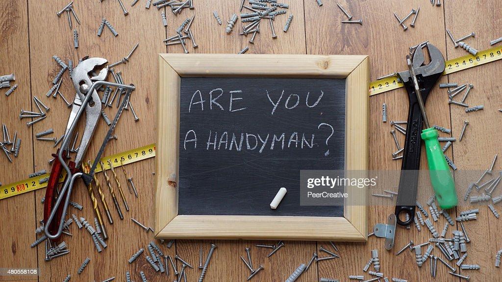 Are you a handyman? : Stock Photo
