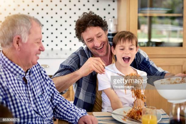 Êtes-vous sûr que vous allez manger tous ça, papa?