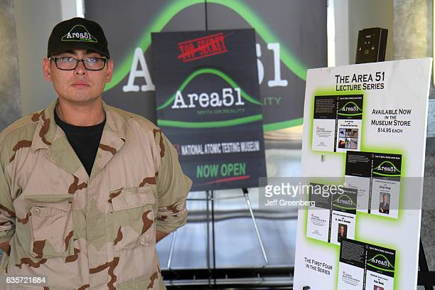Area 51 guide at the National Atomic Testing Museum