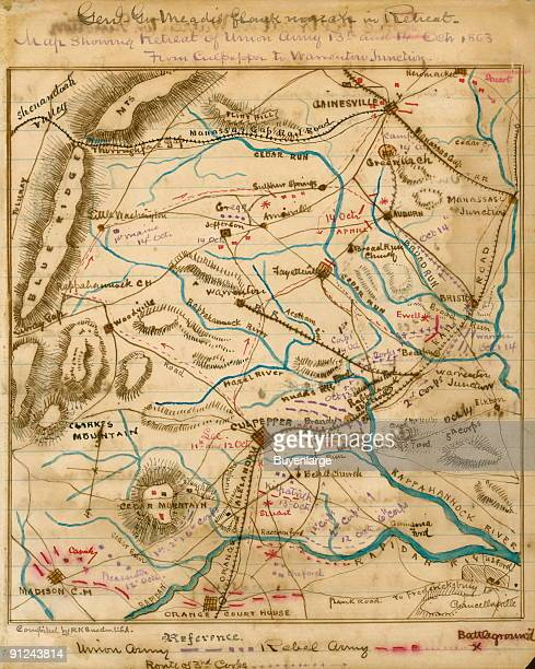 Area of central Virginia bordered by Gainesville to the north Orange Court House to the south Luray Gap to the west and Bristoe to the east With...