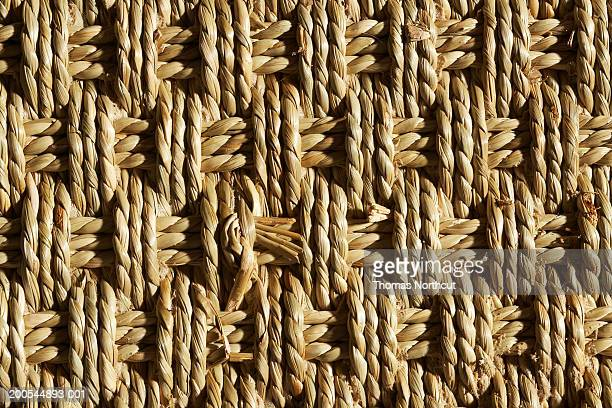 Area rug made of woven sea grass, full frame