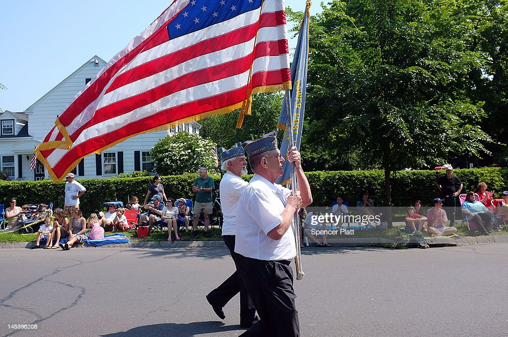 Area veterans participate in the annual Memorial Day Parade on May 28, 2012 in Fairfield, Connecticut. This years parade, one of the largest in the state, celebrated Vietnam Veterans. Across America towns and cities will be celebrating veterans of the United States Armed Forces and the sacrifices they have made. Memorial Day is a federal holiday in America and has been celebrated since the end of the Civil War.