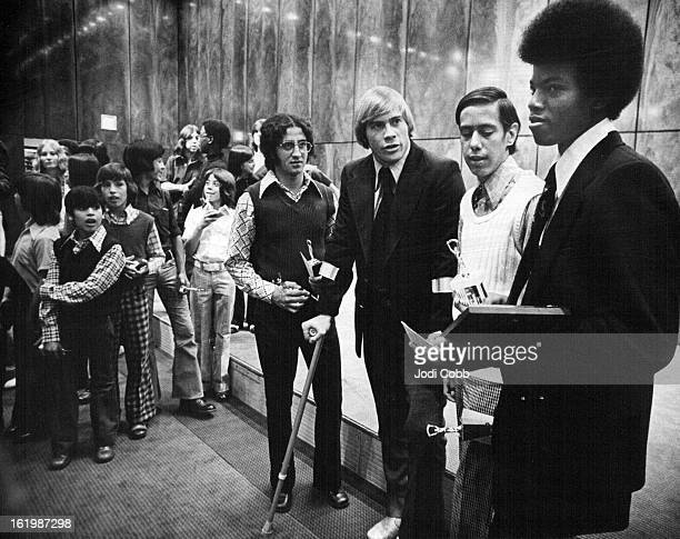 OCT 8 1974 OCT 9 1974 Area Youths Honored Tuesday at Boys' Club of Denver Inc Annual Awards Banquet Presenting awards at the affair in the Brown...
