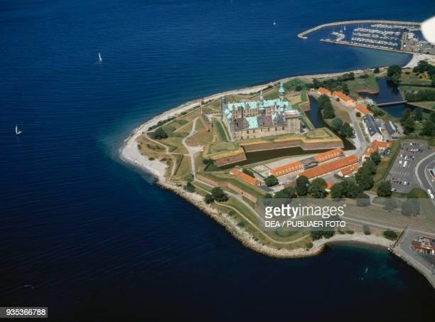 Areal view of Kronborg Castle Helsingor Denmark