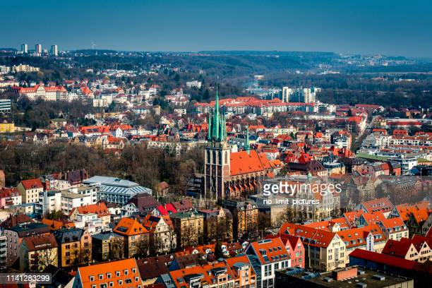 areal view of ulm in germany - ulm stock pictures, royalty-free photos & images