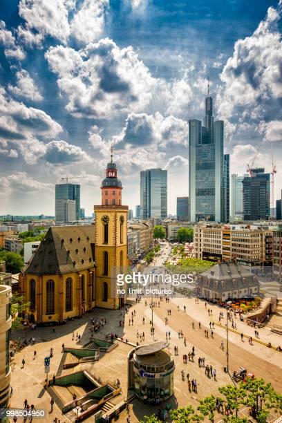 areal view over frankfurt - frankfurt stock pictures, royalty-free photos & images