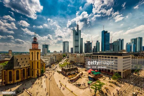 areala utsikt över frankfurt - frankfurt main bildbanksfoton och bilder