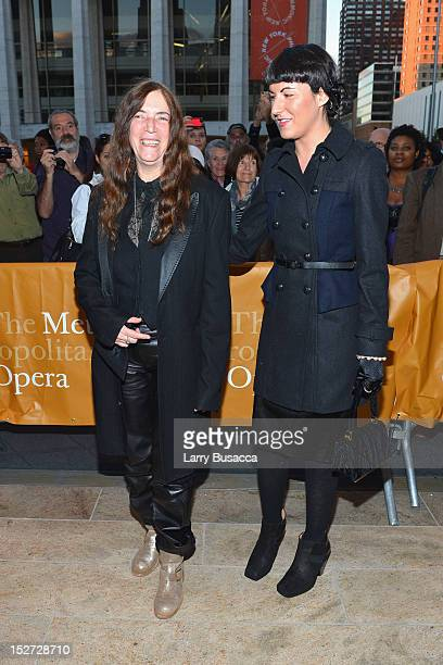 ARecording Artist Patti Smith and daughter Jesse Smith attend the 2012 Metropolitan Opera Season Opening Night performance of L'Elisir D'Amore at The...