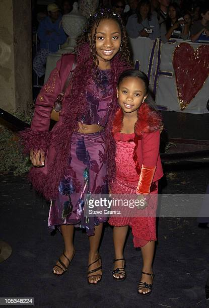 Aree Davis and Sister Dee Dee during 'The Haunted Mansion' World Premiere at El Capitan Theatre in Hollywood California United States