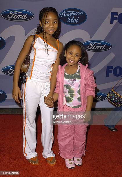 Aree Davis and sister DeeDee Davis during 'American Idol' Season 3 Top 12 Finalists Party Arrivals at Pearl in Los Angeles California United States