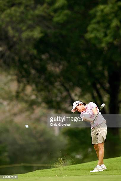 Aree Song of South Korea makes a shot from the fairway on the 18th hole during the second round of the SemGroup Championship presented by John Q...
