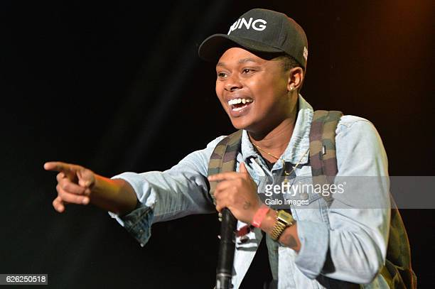 AReece performs during the 7th annual Maftown Heights 2016 concert at the Mary Fritzgerald Square on November 25 2016 in Johannesburg South Africa...
