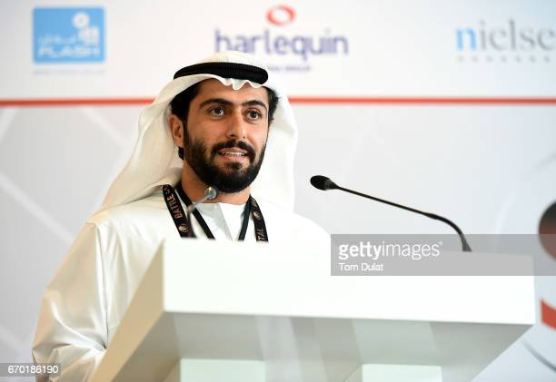 E Aref Al Awani General Secretary Abu Dhabi Sports Council during the 'Sports Industry Forum Driving New InitiativesEffecting Change' on April 19...