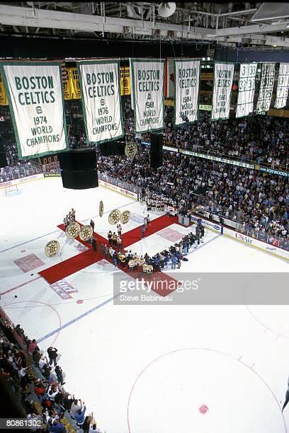 Areial view of the Boston Bruins Last Hurrah ceremony celebrating the closing of Boston Garden on September 281995