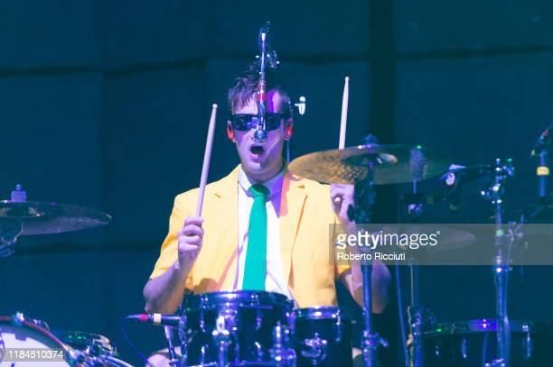 Arejay Hale of Halestorm performs on stage at The SSE Hydro on November 24, 2019 in Glasgow, Scotland.
