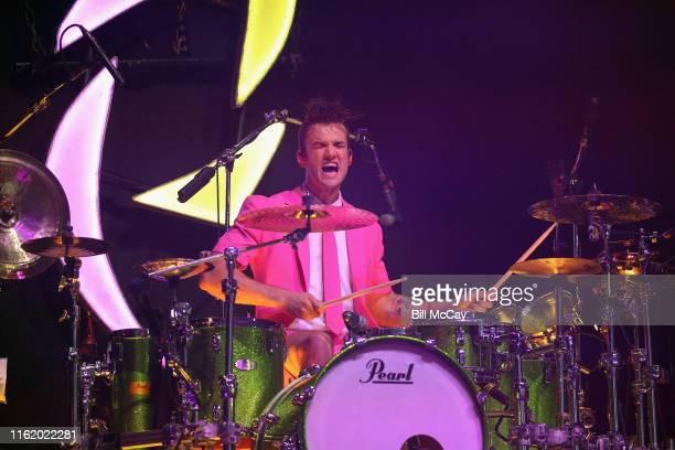 Arejay Hale of the band Halestorm performs at the BBT Pavilion August 16 2019 in Camden New Jersey