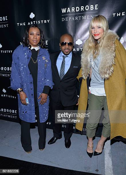 Arell Hughes hiphop artist Jermaine Dupri and April Roomet attend the grand opening of the Wardrobe Department LA store at Wardrobe Department on...