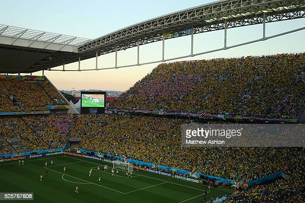 Arena Corinthians Estadio Itaquerao stadium Arena de Sao Paulo stadium host venue of the FIFA 2014 World Cup and home of Sport Club Corinthians...