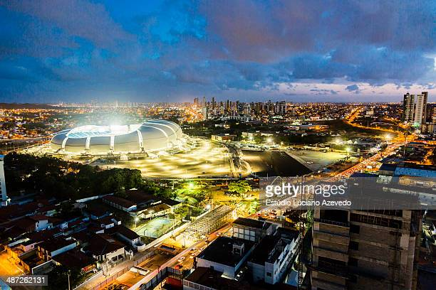 arena das dunas - fifa world cup stock pictures, royalty-free photos & images